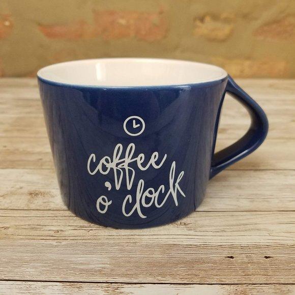 Threshold Blue Porcelain Coffee O'clock Mug